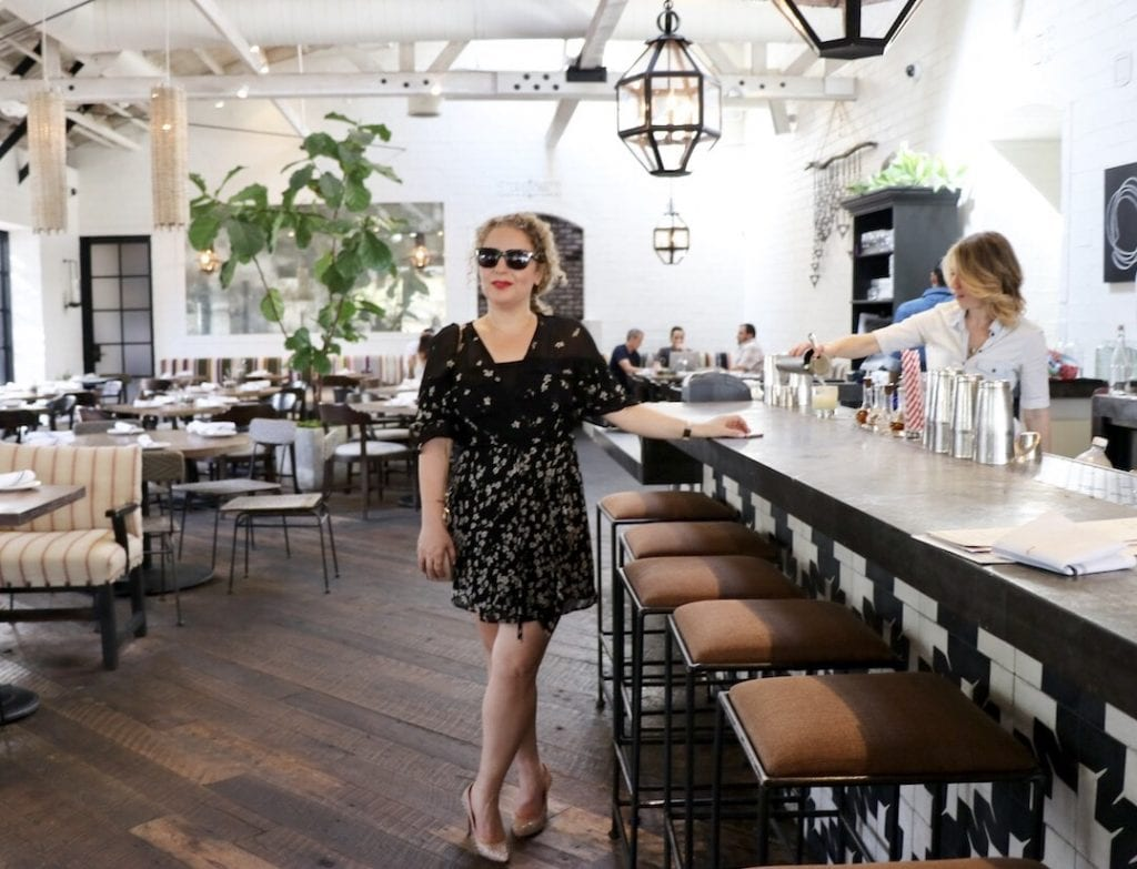 Sustainable Fashion Brands in Los Angeles by Liz in Los Angeles, Lifestyle Blogger, an image of a blond woman in a dress