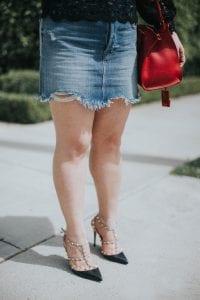 Denim Skirt & Valentino
