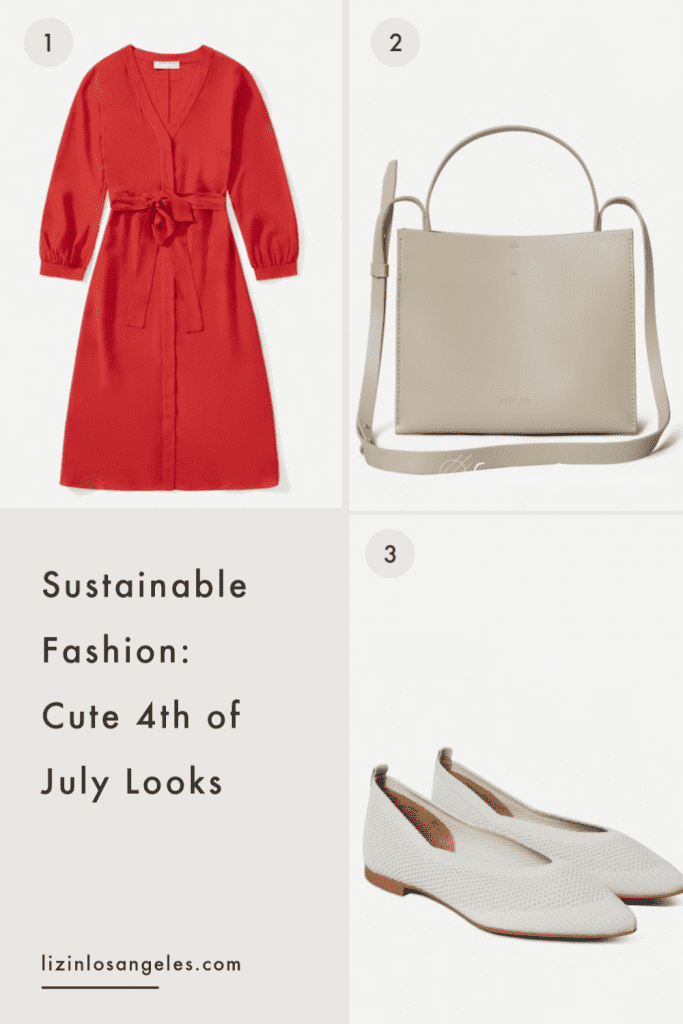 Sustainable Fashion: 3 Cute 4th of July Looks, a blog post by Liz in Los Angeles, Los Angeles Lifestyle Blogger: an image of an outfit