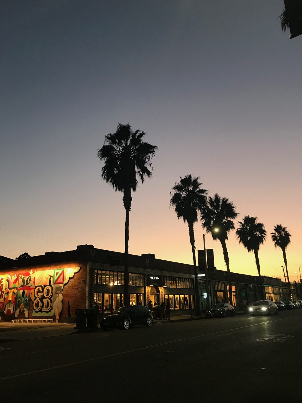 The view from The Butcher's Daughter, a Vegan Restaurant in Los Angeles