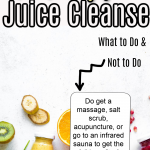 How to Prep for a Juice Cleanse, a blog post by Liz in Los Angeles, a top Los Angeles lifestyle blogger, an image of a graphic about juice cleanse