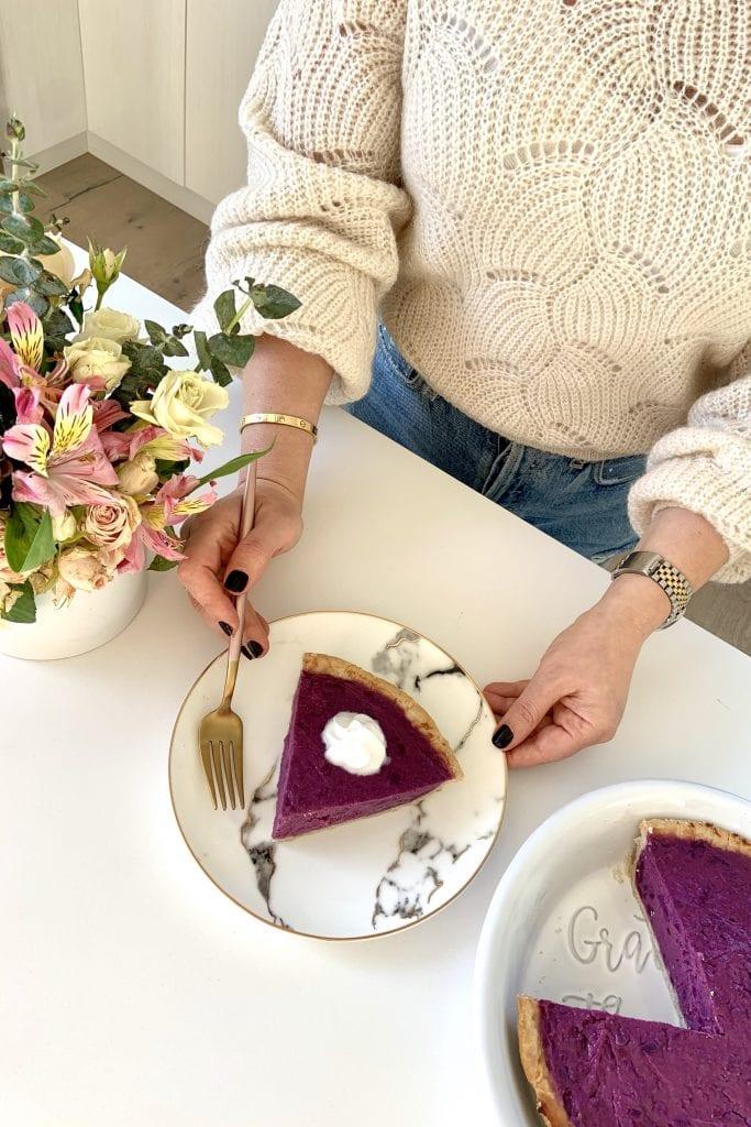 Vegan & Gluten-Free Recipe for Stokes Purple® Sweet Potato Pie by Liz in Los Angeles, Los Angeles Lifestyle Blogger