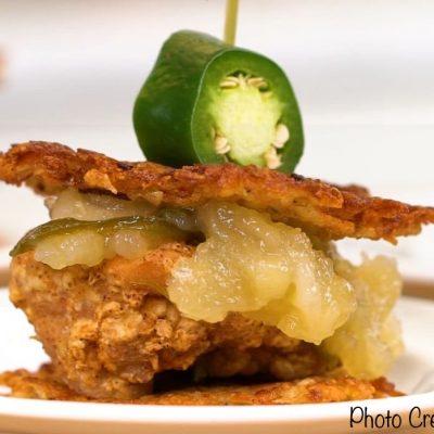Fried Chicken & Potato Latkes Recipe