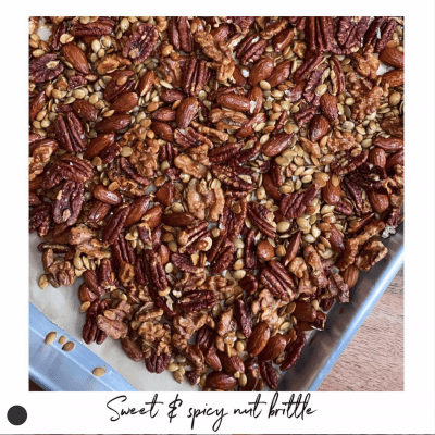 Sweat & Spicy Nut Brittle Recipe