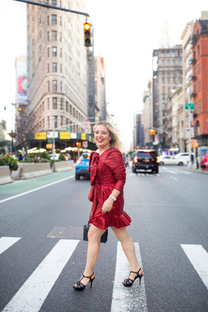What to Wear on Valentine's Day, a blog post by Liz in Los Angeles, Los Angeles Lifestyle Blogger: an image of a blonde woman wearing a red dress
