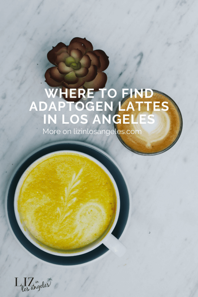 Where to Find Adaptogen Lattes in LA, a blog post by Liz in Los Angeles, Los Angeles Lifestyle Blogger: an image of  lattes and succulent