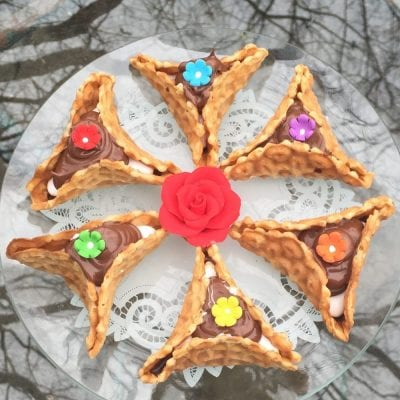 Pizzele Nutella S'mores Hamantaschen (Purim Cookie)