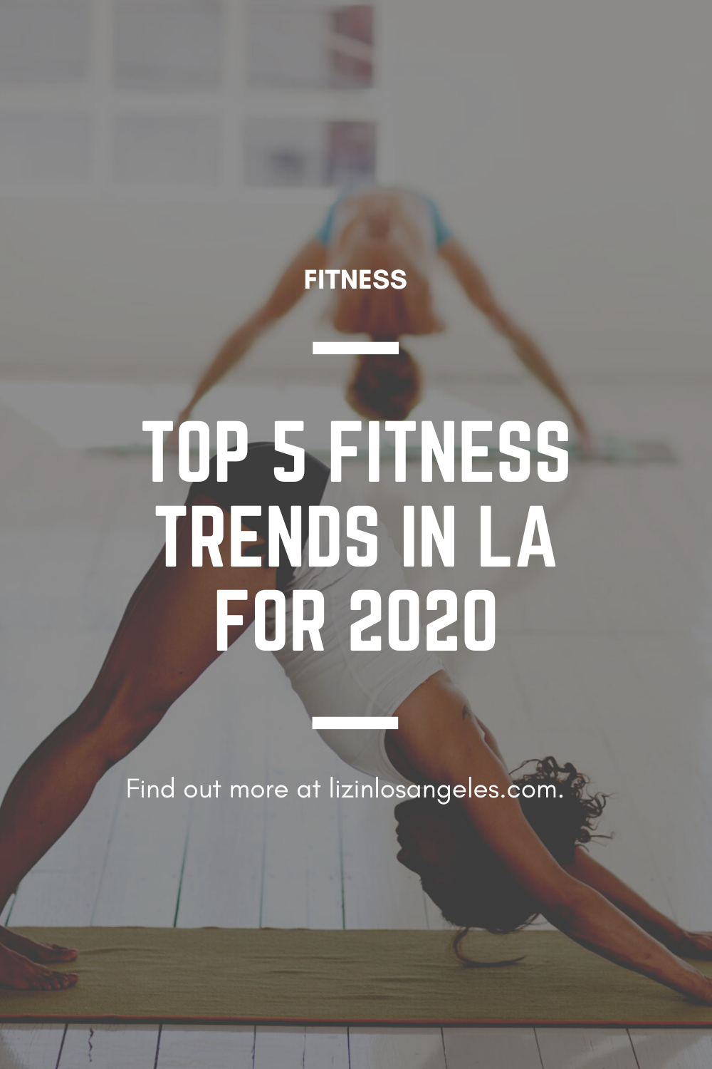 Top 5 Fitness Trends in LA for 2020, a blog post by Liz in Los Angeles, Los Angeles Lifestyle Blogger: an image of workouts graphic