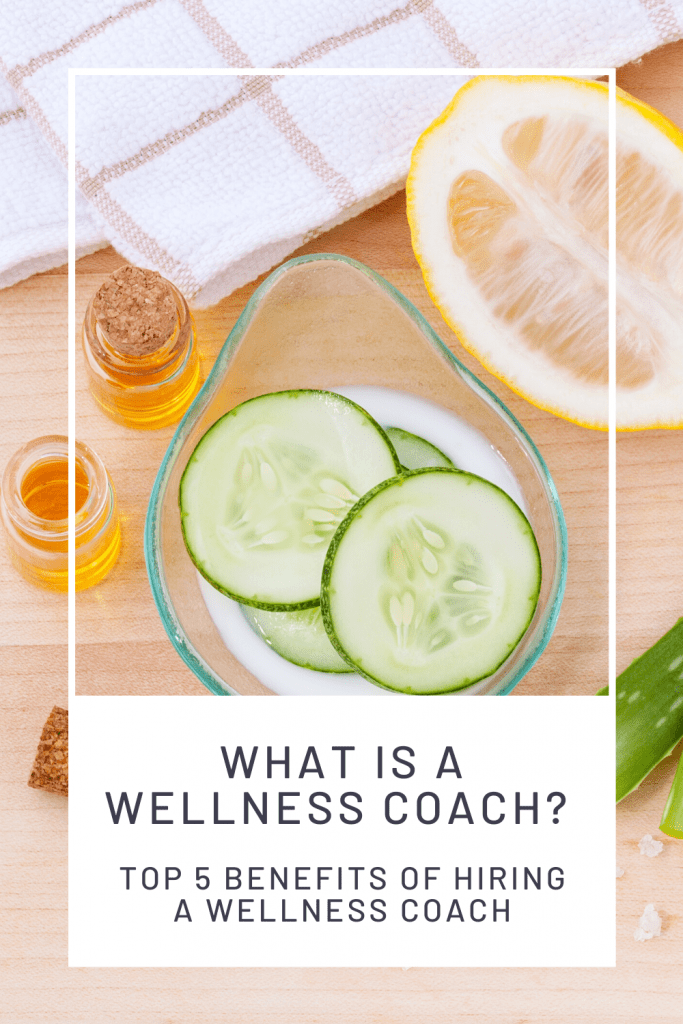 What is a Wellness Coach, a blog post by Liz in Los Angeles, Los Angeles Lifestyle Blogger: an image of cucumbers, lemon and wellness bottles