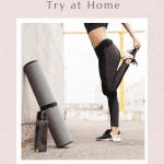 Top 5 Best Workout Apps for Women to Try at Home, a blog post by Liz in Los Angeles: image of a woman nd workout equipments