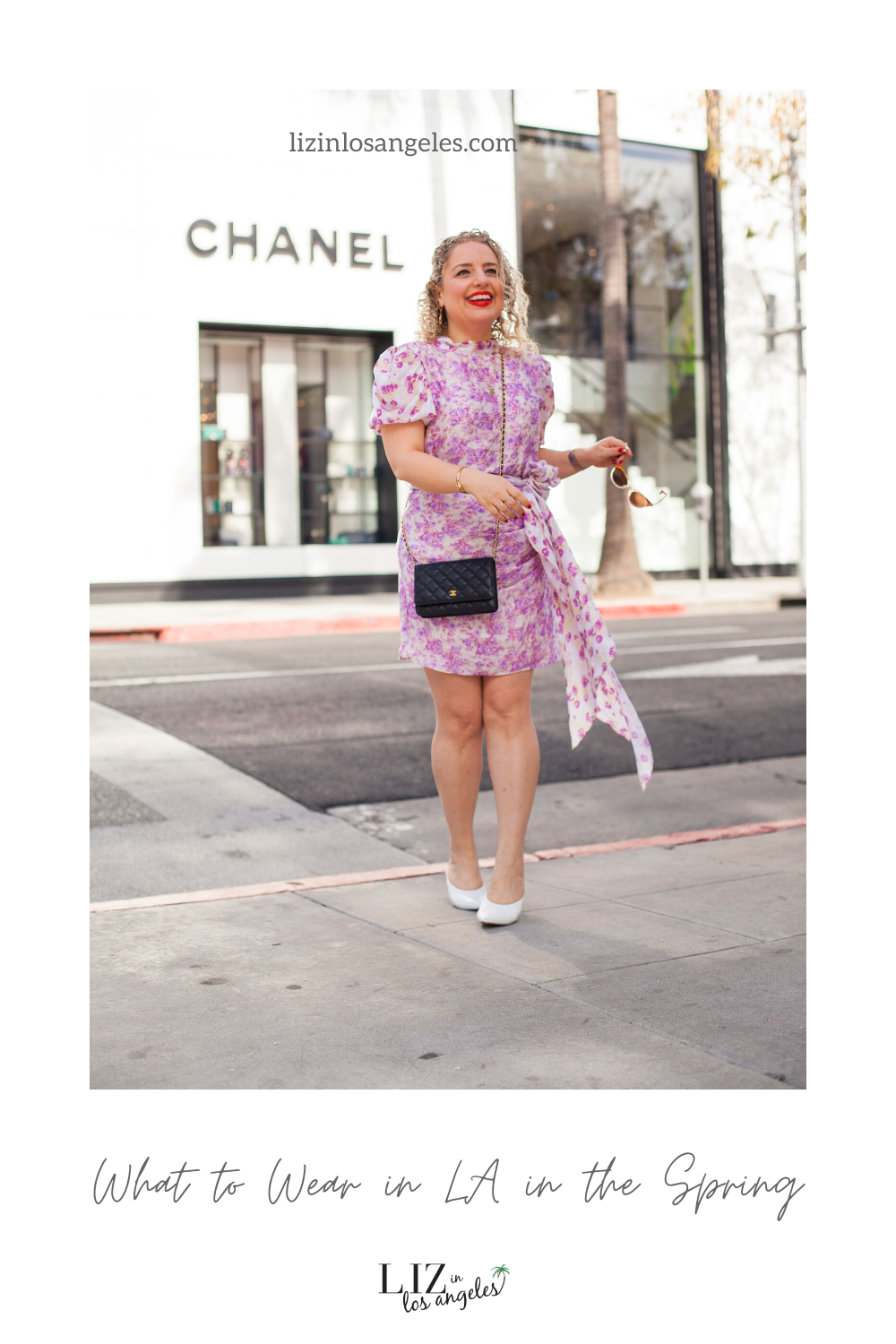 What to Wear in LA in the Spring, a blog post by Liz in Los Angeles, Los Angeles Lifestyle Blogger: an image of a woman in a floral dress