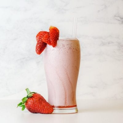 Strawberry + Peach Smoothie
