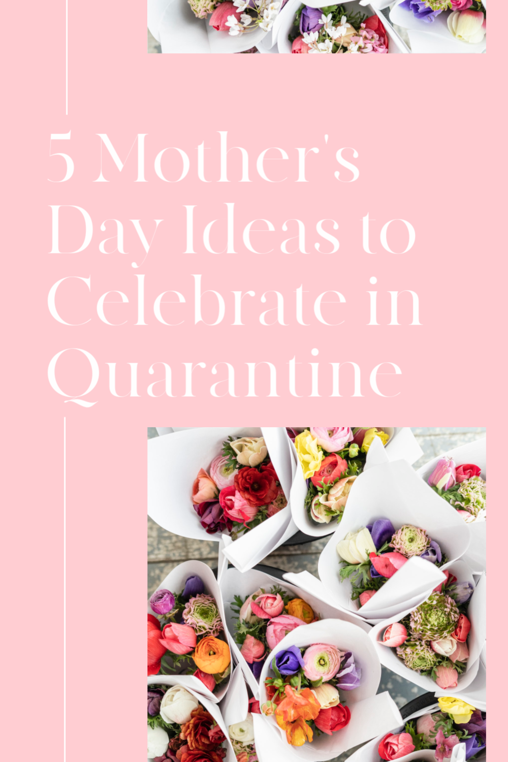 5 Mother's Day Ideas to Celebrate in Quarantine, a blog post by Liz in Los Angeles: an image of flowers