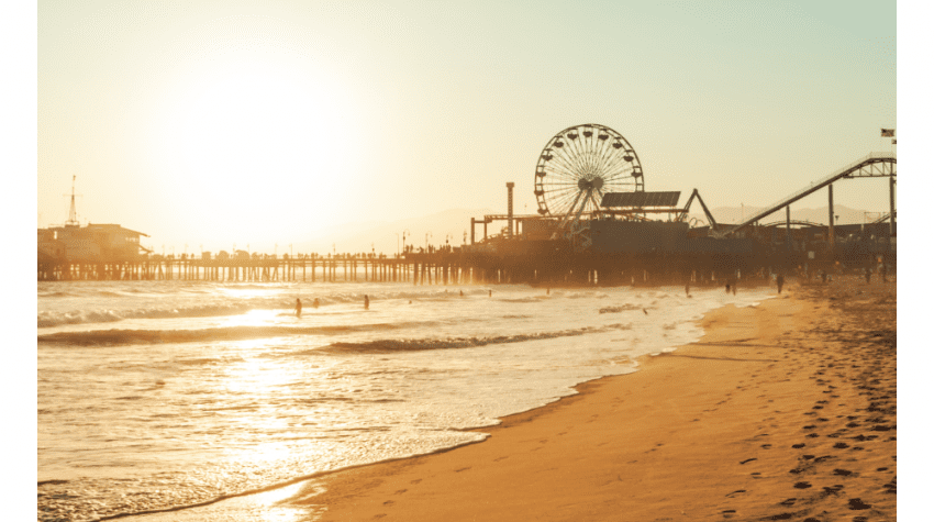 Top 5 Things to Do in LA in July 2020 to Beat the Summer Heat, a blog post by Liz in Los Angeles, Los Angeles Lifestyle Blogger, an image of Santa Monica Pier