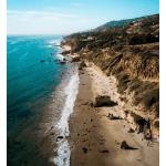 Top 5 Things to Do in LA in July 2020 to Beat the Summer Heat, a blog post by Liz in Los Angeles, Los Angeles Lifestyle Blogger, an image of Malibu beach