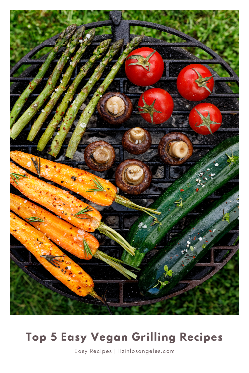 Top 5 Easy Vegan Grilling Recipes to Try This Summer, a blog post by Liz in Los Angeles, Los Angeles Lifestyle Blogger, an image veggies