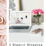 5 Biggest Blogging Mistakes to Avoid that New Bloggers Make, a blog post by Liz in Los Angeles, Los Angeles Lifestyle Blogger: an image of a laptop and flowers
