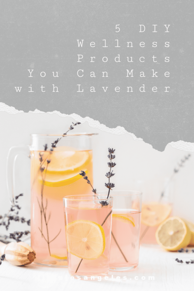 Lavender Uses: 5 DIY Wellness Products You Can Make with Lavender, a blog post by Liz in Los Angeles, Los Angeles Lifestyle Blogger, an image of lavender infused cocktails