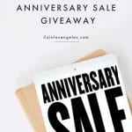 The Ultimate Nordstrom Giveaway, a blog post by Liz in Los Angeles, Los Angeles Lifestyle Blogger, an image of Nordstrom Anniversary Sale on a tablet