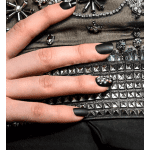 5 Fall Nail Polish Colors You Will Love This Season, a blog post by Liz in Los Angeles, top Los Angeles Lifestyle Blogger, an image of a manicure in shade of black