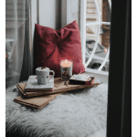5 Tips to Deal with COVID Anxiety, a blog post by Liz in Los Angeles, top Los Angeles lifestyle blogger: an image of latte next to window