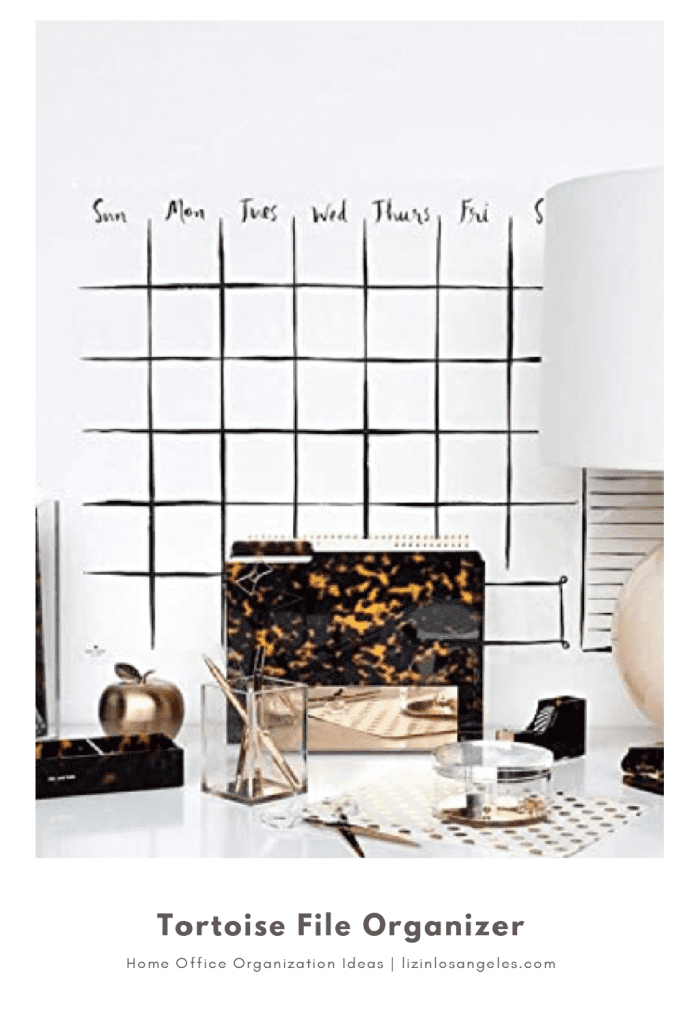 Home Office Organization Ideas: 5 Essentials You'll Need, a blog post by Liz in Los Angeles, top Los Angeles lifestyle blogger: an image of a file organizer