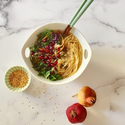 Pomegranate Vegan Ramen