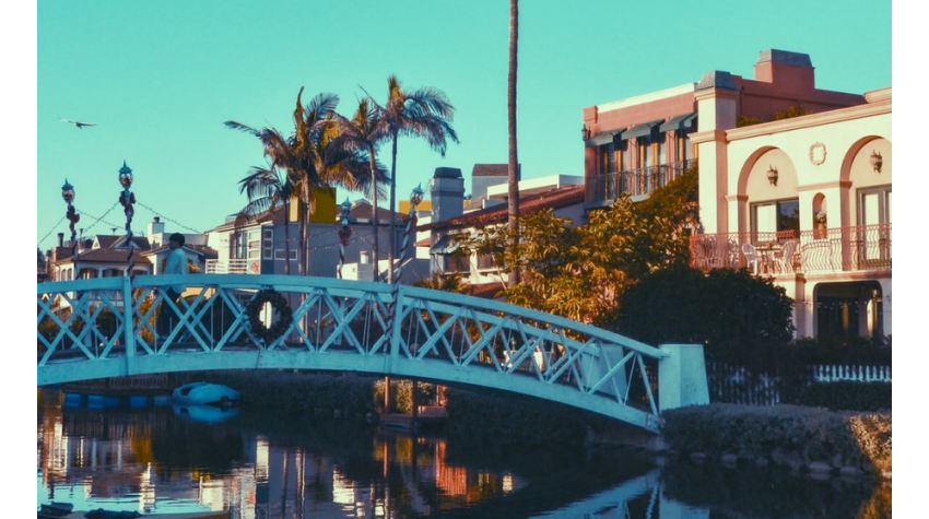 Top 5 Best Things to Do in LA in January, a blog post by Liz in Los Angeles, top LA blogger, an image of venice canals in Los Angeles
