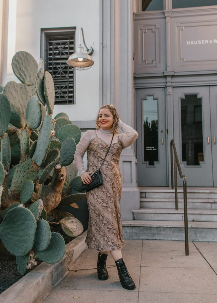 What to Wear on Valentine's Day in 2021: 3 Cute Outfit Ideas, a blog post by Liz in Los Angeles, top Los Angeles lifestyle blogger, an image of a blonde women in a slip dress for Valentine's Day