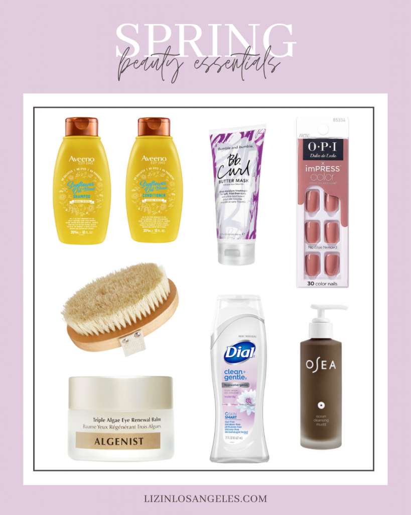 Top 10 Best Spring Beauty Essentials Women Over 30 Will Love, a blog post by Liz in Los Angeles, top Los Angeles Lifestyle Blogger, an image of a graphic of spring beauty essentials